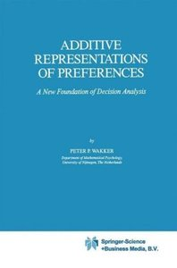 Additive Representations of Preferences