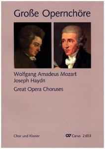 Große Opernchöre, Chor und Klavier