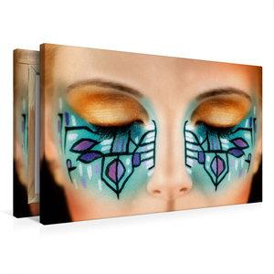 Premium Textil-Leinwand 75 cm x 50 cm quer Kreatives Make-Up