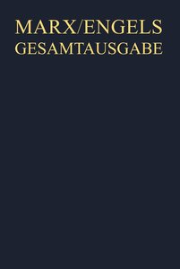 Gesamtausgabe (MEGA), BAND 8, Karl Marx: Das Kapital. Kritik der