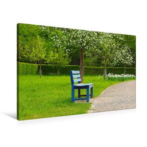 Premium Textil-Leinwand 90 cm x 60 cm quer Motiv Obstwiese aus d