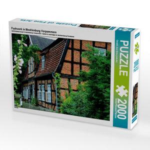 Fachwerk in Mecklenburg Vorpommern 2000 Teile Puzzle quer
