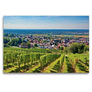 Premium Textil-Leinwand 120 cm x 80 cm quer Blick vom Reuschberg