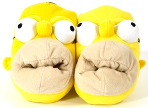 United Labels 0807007 - Slipper The Simpsons 3D - Hausschuhe Hom