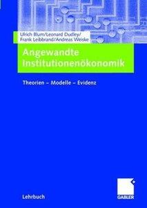 Angewandte Institutionenökonomik