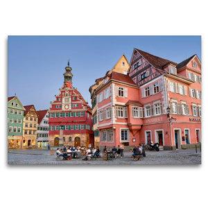 Premium Textil-Leinwand 120 cm x 80 cm quer Das Alte Rathaus von