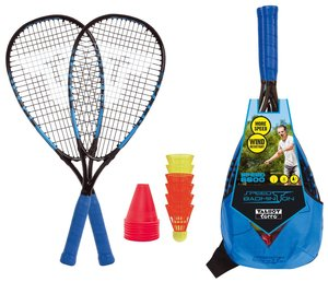 MTS 490116 - Speedbadminton Set SPEED 6000 im Slingbag black/blu