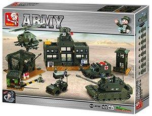 Sluban ARMY M38-B7100 - Hauptqaurtier Set, 1086 Teile