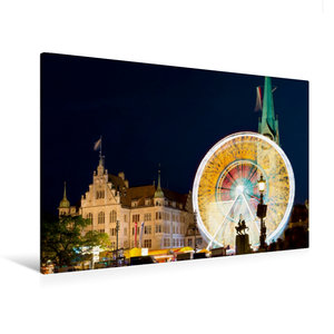 Premium Textil-Leinwand 120 cm x 80 cm quer Riesenrad vor histor