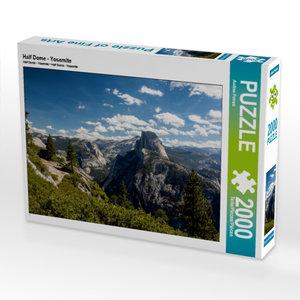 CALVENDO Puzzle Half Dome - Yosemite 2000 Teile Lege-Größe 90 x