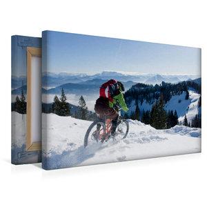 Premium Textil-Leinwand 45 cm x 30 cm quer Kampenwand/Germany,