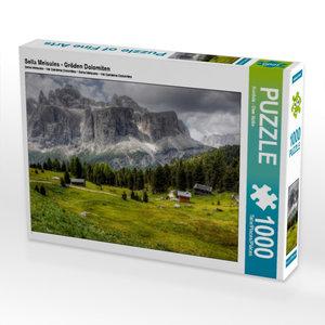 Sella Meisules - Gröden Dolomiten 1000 Teile Puzzle quer