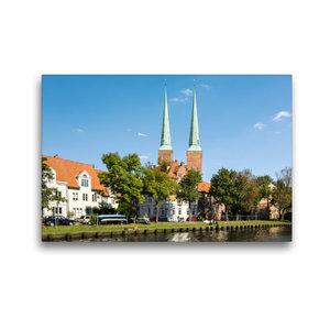 Premium Textil-Leinwand 45 cm x 30 cm quer Lübecker Dom