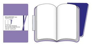 Moleskine Purple Plain Volant Notebook P. 2 Notebooks in 2 Shade