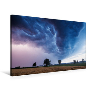 Premium Textil-Leinwand 75 cm x 50 cm quer Shelfcloud zur blauen