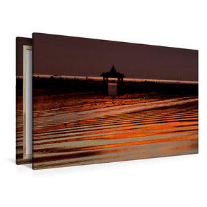 Premium Textil-Leinwand 120 cm x 80 cm quer Morgenstimmung