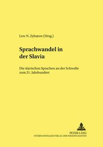Sprachwandel in der Slavia