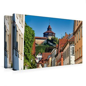 Premium Textil-Leinwand 75 cm x 50 cm quer Der dicke Turm der Es