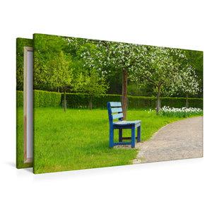 Premium Textil-Leinwand 120 cm x 80 cm quer Motiv Obstwiese aus