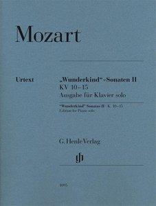 Wunderkind-Sonaten Band II KV 10-15, Ausgabe für Klavier solo