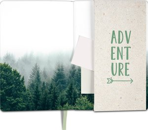 myNOTES Notizbuch A5: And so the Adventure begins - notebook med