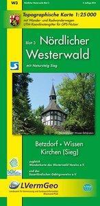 Nördlicher Westerwald 3. Wanderkarte 1 : 25 000