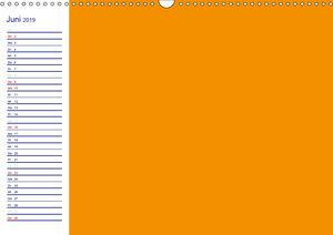 Farbiger Bastelkalender (Wandkalender 2019 DIN A3 quer)