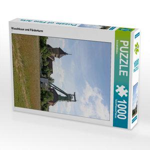 CALVENDO Puzzle Waschkaue und Förderturm 1000 Teile Lege-Größe 4