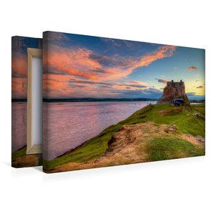 Premium Textil-Leinwand 45 cm x 30 cm quer Lindisfarne Castle -