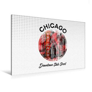 Premium Textil-Leinwand 120 cm x 80 cm quer Graphic-Art CHICAGO