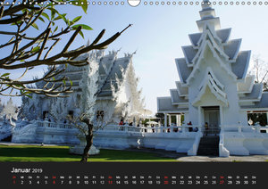Der Weiße Tempel in Thailand Wat Rong Khun (Wandkalender 2019 DI