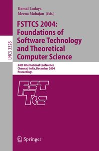 FSTTCS 2004: Foundations of Software Technology and Theoretical