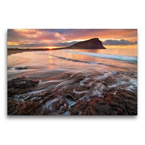 Premium Textil-Leinwand 75 cm x 50 cm quer Tejita Sunrise