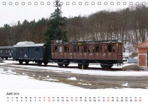 Eisenbahnen auf Usedom (Tischkalender 2019 DIN A5 quer)