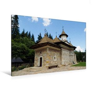 Premium Textil-Leinwand 120 cm x 80 cm quer Kloster Sihastria Pu