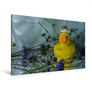 Premium Textil-Leinwand 120 cm x 80 cm quer Enten-King