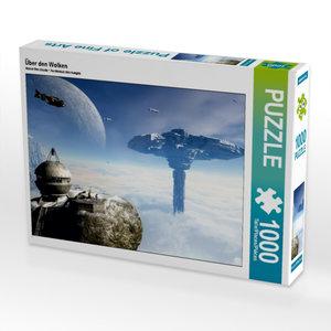 Über den Wolken 1000 Teile Puzzle quer