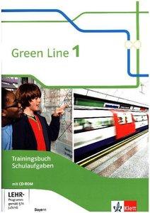 Green Line. Trainingsbuch Schulaufgaben mit Lösungen und Audio-C