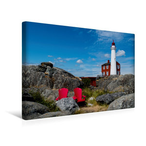 Premium Textil-Leinwand 45 cm x 30 cm quer Fisgard Lighthouse