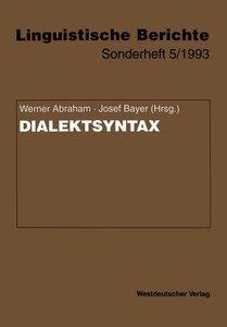 Dialektsyntax