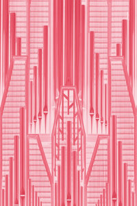 Premium Textil-Leinwand 60 cm x 90 cm hoch Pink Art