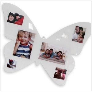 Fotorahmen Acryl-Schmetterling weiß
