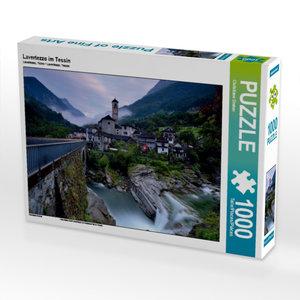 Lavertezzo im Tessin 1000 Teile Puzzle quer