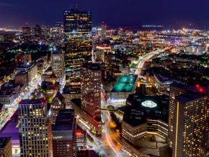 CALVENDO Puzzle Lichter der Nacht in Boston 1000 Teile Lege-Größ