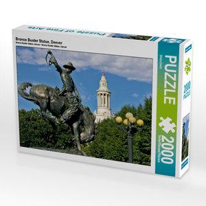 CALVENDO Puzzle Bronco Buster Statue, Denver 2000 Teile Lege-Grö