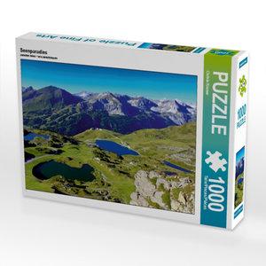 Seenparadies 1000 Teile Puzzle quer
