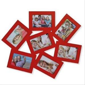 Bilderrahmen Collage 7-fach rot