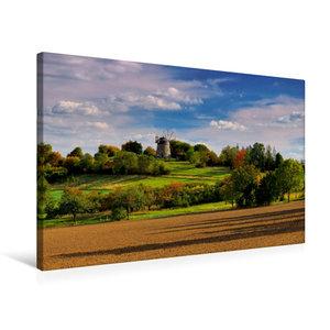 Premium Textil-Leinwand 75 cm x 50 cm quer Holländer-Windmühle E