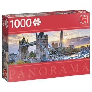 Tower Bridge, London - 1000 Teile Panorama Puzzle