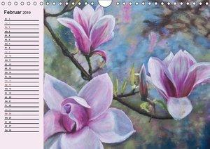 Phantastische Blüten, Gemälde in Öl und Acryl (Wandkalender 2019